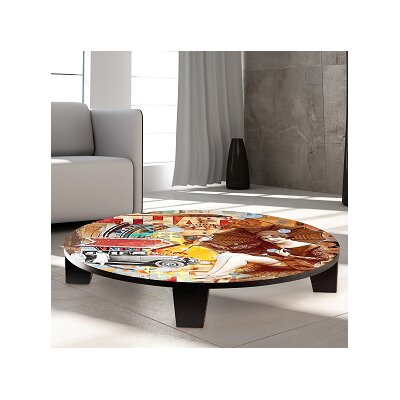 Take a Ride in My Automoble Table Art Size: 35 W x 35 D