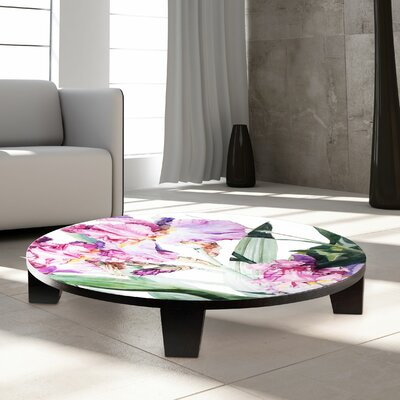 Iris Grace Coffee Table Size: 35 W x 35 D