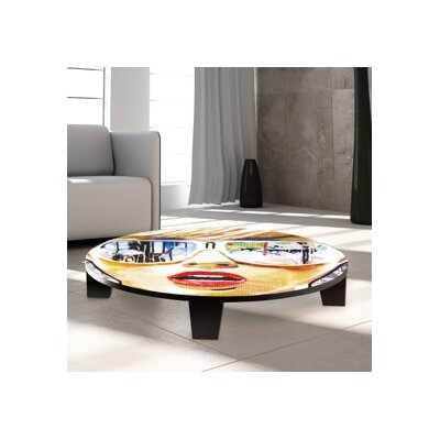 Illusion of the Past Coffee Table Size: 44 W x 44 D