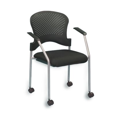 Breeze 4 Leg Side Chair with Casters Frame Color: Gray