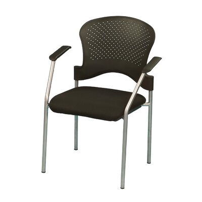 Breeze 4 Leg Side Chair with Arms Frame Color: Gray