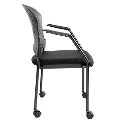 Breeze 4 Leg Side Chair with Casters Frame Color: Black