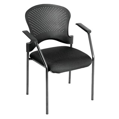 Breeze 4 Leg Side Chair with Arms Frame Color: Black