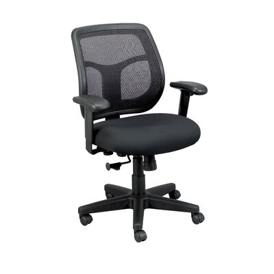 Eurotech Seating Apollo Mid-Back Mesh Swivel Office Chair - Color: Black
