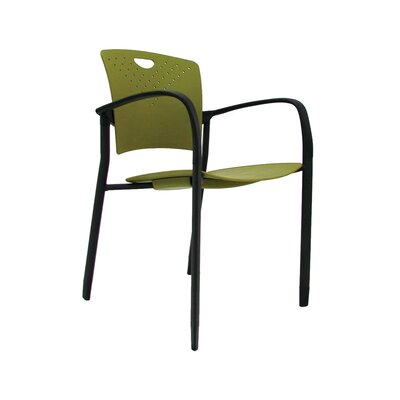 Staq Guest Chair (Set of 4) Finish: Green
