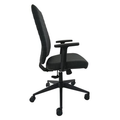 High Back Leather Desk Chair Arms