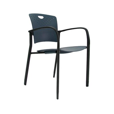 Staq Guest Chair (Set of 4) Finish: Navy