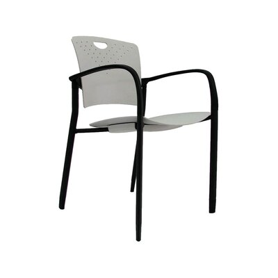 Staq Guest Chair (Set of 4) Finish: Grey