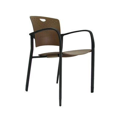 Staq Guest Chair (Set of 4) Finish: Coffee