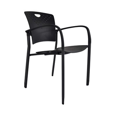 Staq Guest Chair (Set of 4) Finish: Black