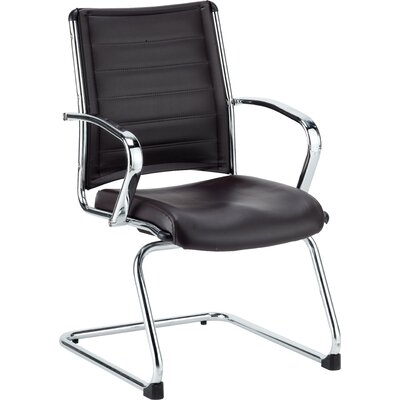 Europa Leather Guest Chair Seat Color: Black