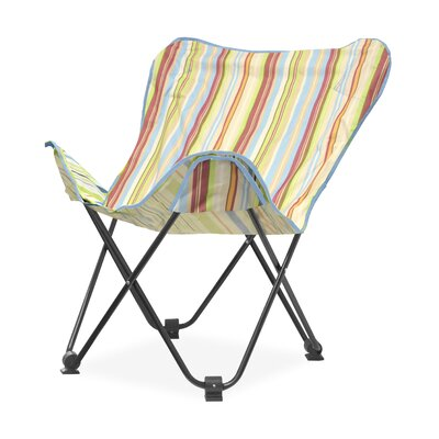Urban Shop Surfer Stripe Butterfly Lounge Chair Upholstery: Natural