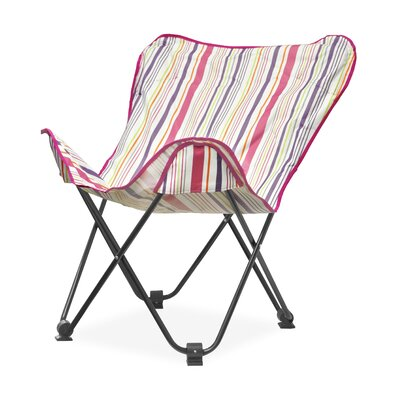 Urban Shop Surfer Stripe Butterfly Lounge Chair Upholstery: Warm