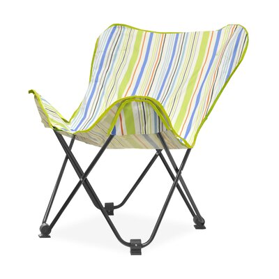 Urban Shop Surfer Stripe Butterfly Lounge Chair Upholstery: Cool