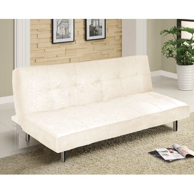 Urban Shop Microfiber Convertible Sofa Upholstery: White