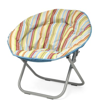 Urban Shop Surfer Stripe Saucer Papasan Chair Upholstery: Natural
