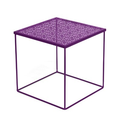 Cornish Hills Metal Cut Out End Table Color: Purple