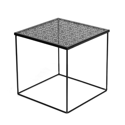 Cornish Hills Metal Cut Out End Table Color: Black