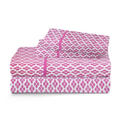 Deliah Ikat Cotton Sheet Set Size: Full