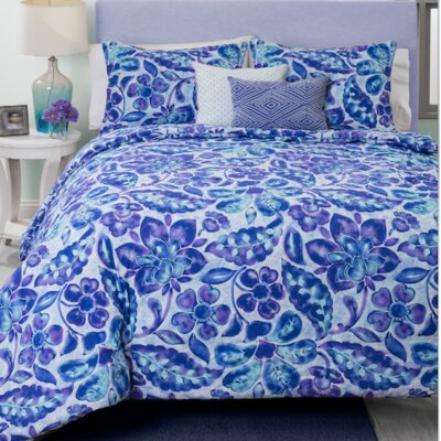 Ombre Damask Comforter Set Size: Full/Queen
