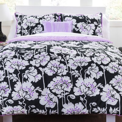 Midnight Poppies Comforter Set Size: Full/ Queen