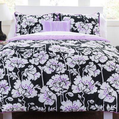 Midnight Poppies Comforter Set Size: Full/ Queen