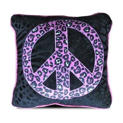 Natalie Peace Sign Throw Pillow