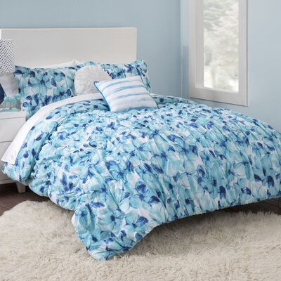 Cerulean Floral Comforter Set Size: Twin/Twin XL