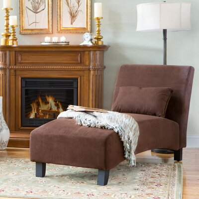 Georgina Chaise Lounge Upholstery: Brown
