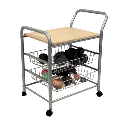 Rosalie Kitchen Cart with Wood Top