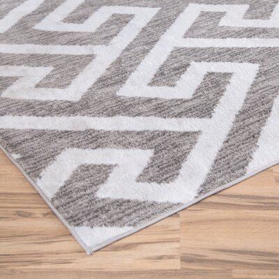 Hector Gray/White Area Rug Rug Size: Runner 2 x 77