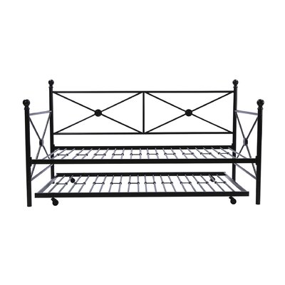 Timberwyck Daybed with Trundle Color: Black, Size: Full