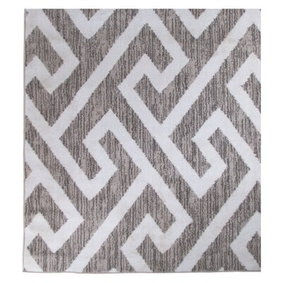 Hector Gray/White Area Rug Rug Size: Rectangle 76 x 96