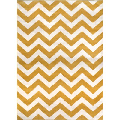 Brianna Yellow Area Rug Rug Size: 33 x 52
