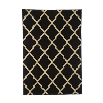 Channelle Black Area Rug Rug Size: 53 x 79