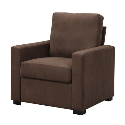 Gracie Armchair Color: Dark Chocolate