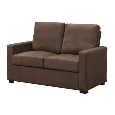 Gracie Loveseat Upholstery: Dark Chocolate