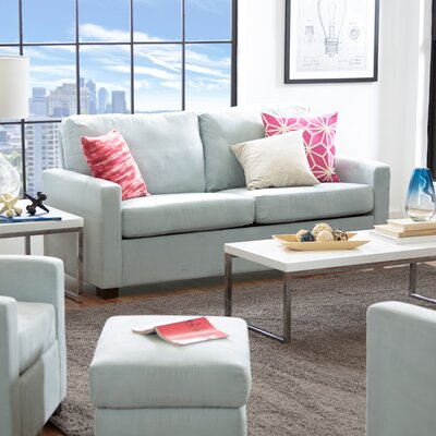 Gracie Ottoman Upholstery: Sky Blue