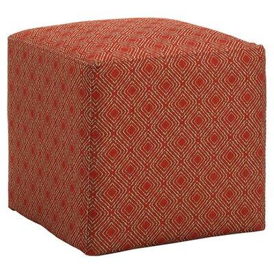 Jillian Cube Ottoman Upholstery: Crimson
