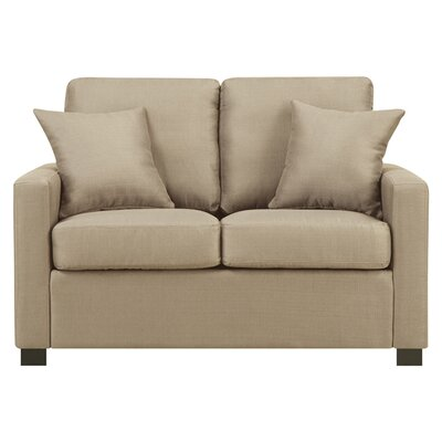 Earlene Loveseat Upholstery: Wheat