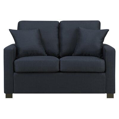 Earlene Loveseat Upholstery: Navy