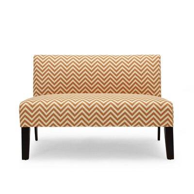 Selena Loveseat Upholstery: Orange