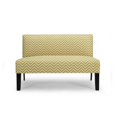 Selena Loveseat Upholstery: Citron