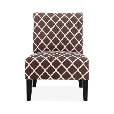Rosario Slipper Chair Upholstery: Brown Lattice