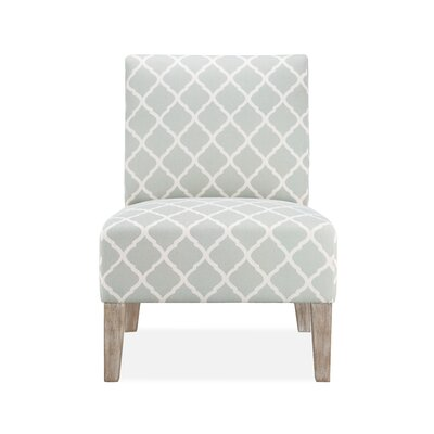 Rosario Slipper Chair Upholstery: Soft Grey Lattice