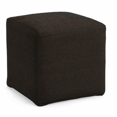Joan Cube Ottoman Upholstery: Brown