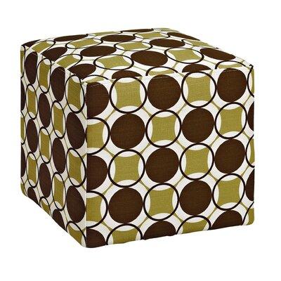 Sharron Geometric Cube Ottoman Upholstery: Fern