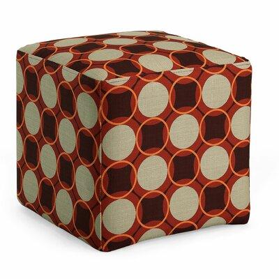 Sharron Geometric Cube Ottoman Upholstery: Fiesta