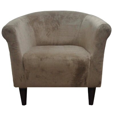 Liam Barrel Chair Upholstery: Coffee