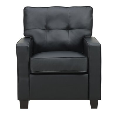 Ella Arm Chair Upholstery: Black